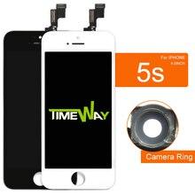 Для iphone 5s жк-экран digitizer ассамблея oem замена стекла + держатель камеры