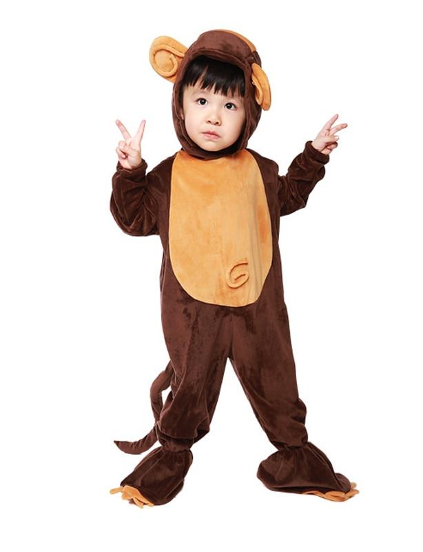 Kids Cartoon Animal Monkey Cosplay Costume Children's Day Halloween Jumpsuits for Girls Boys