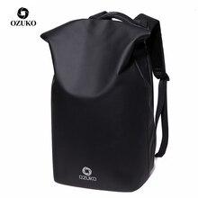Ozuko盗難防止ファッション品質男性 15.6 インチのラップトップバックパックカジュアル防水男性旅行バッグusb充電学生リュックサック