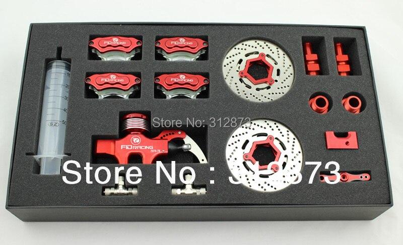 FID de cuatro 4 hidráulica de la rueda de freno juego de freno hidráulico delantero y trasero para HPI ROVAN KM Baja 5B. SS 5 T-in Partes y accesorios from Juguetes y pasatiempos    1