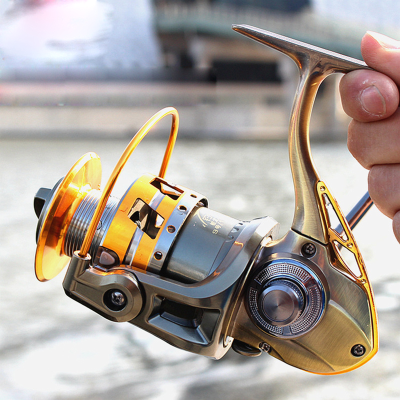 All Metal Spool Spinning Fishing Reel 12+1BB Superior Wheel for Freshwater Saltwater Fishing 3000 - 7000 Series