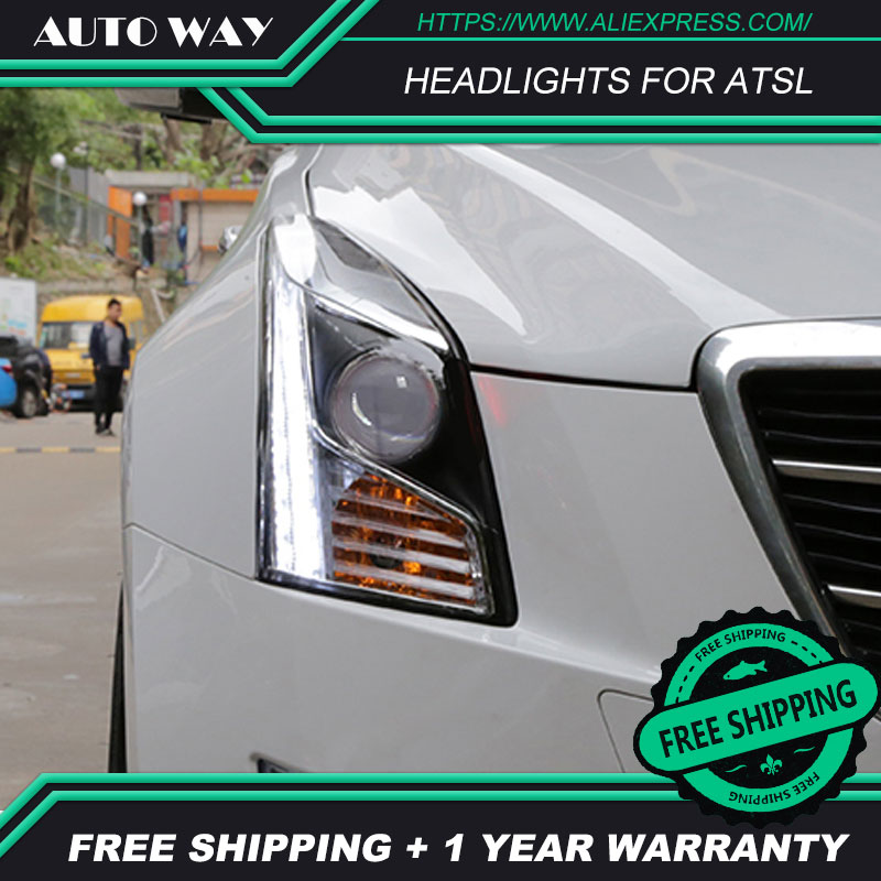 Car Styling Headlights Case For Cadillac ATS ATSL headlight 2014 2017 Car Led Lights Double Xenon