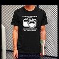 2016 Camisas Da Forma T I Atirar Pessoas T-shirt Engraçado Câmera Fotografia Fotógrafo Tshirts Casual Personalizado Novo Design T-shirt