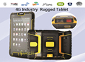 4 Г Lte IP67 Водонепроницаемый Прочный планшетный ПК Android 2 Г RAM Противоударный телефон Отпечатков Пальцев UHF RFID Считыватель Инфракрасный Измеритель чтение