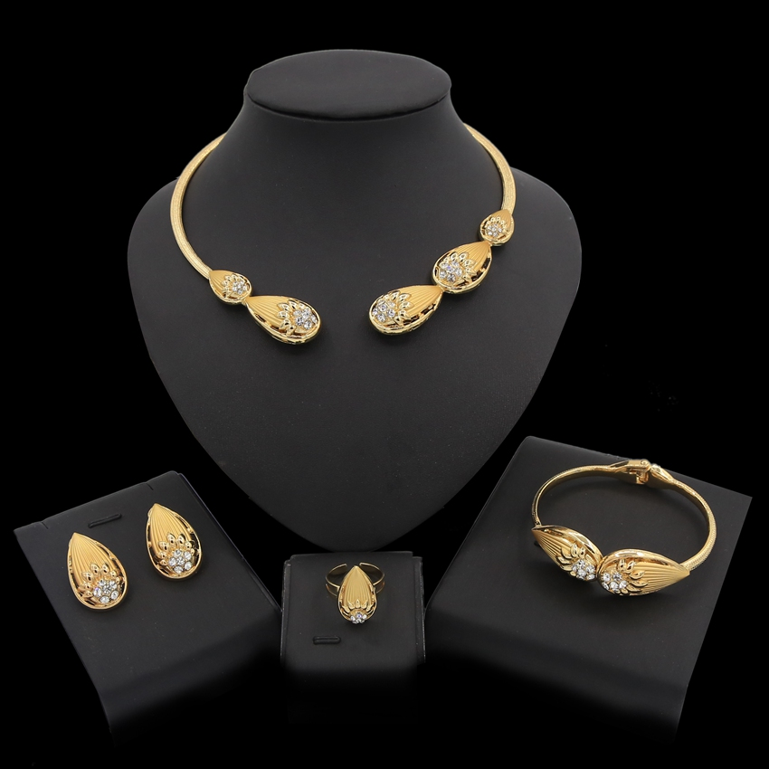 Yulaili Fashion African Jewelry Set 2019 Wedding Necklace Earring Sets Bridal Jewelry Sets for Women Elegant Party GiftYulaili Fashion African Jewelry Set 2019 Wedding Necklace Earring Sets Bridal Jewelry Sets for Women Elegant Party Gift