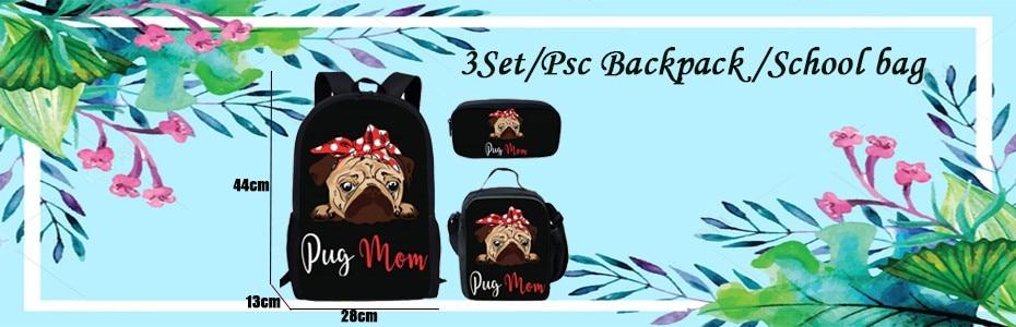 3 set school bag