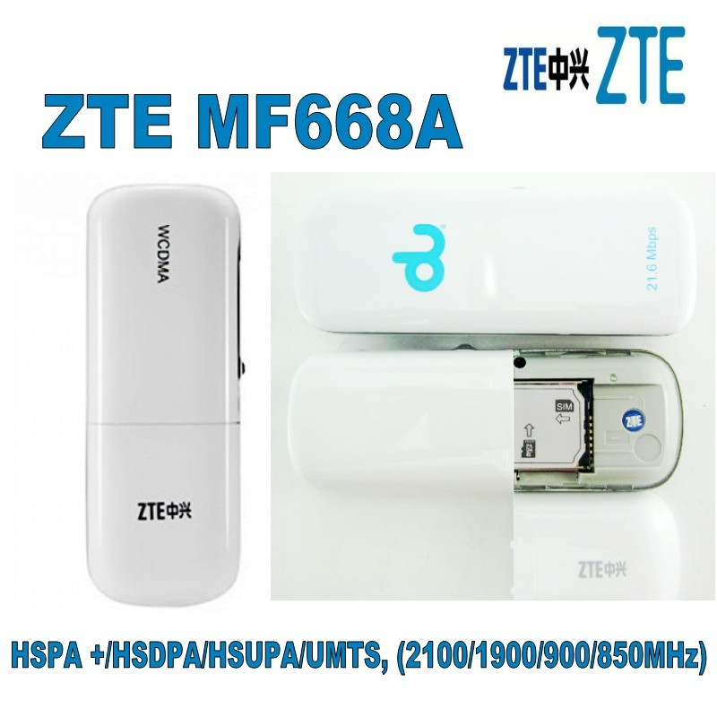 Original ZTE MF668A 3g Wireless Internet Card 3G USB Modem And 3G Dongle Data Card 21Mbps 850MHZ/1900MHZ/2100MHZ
