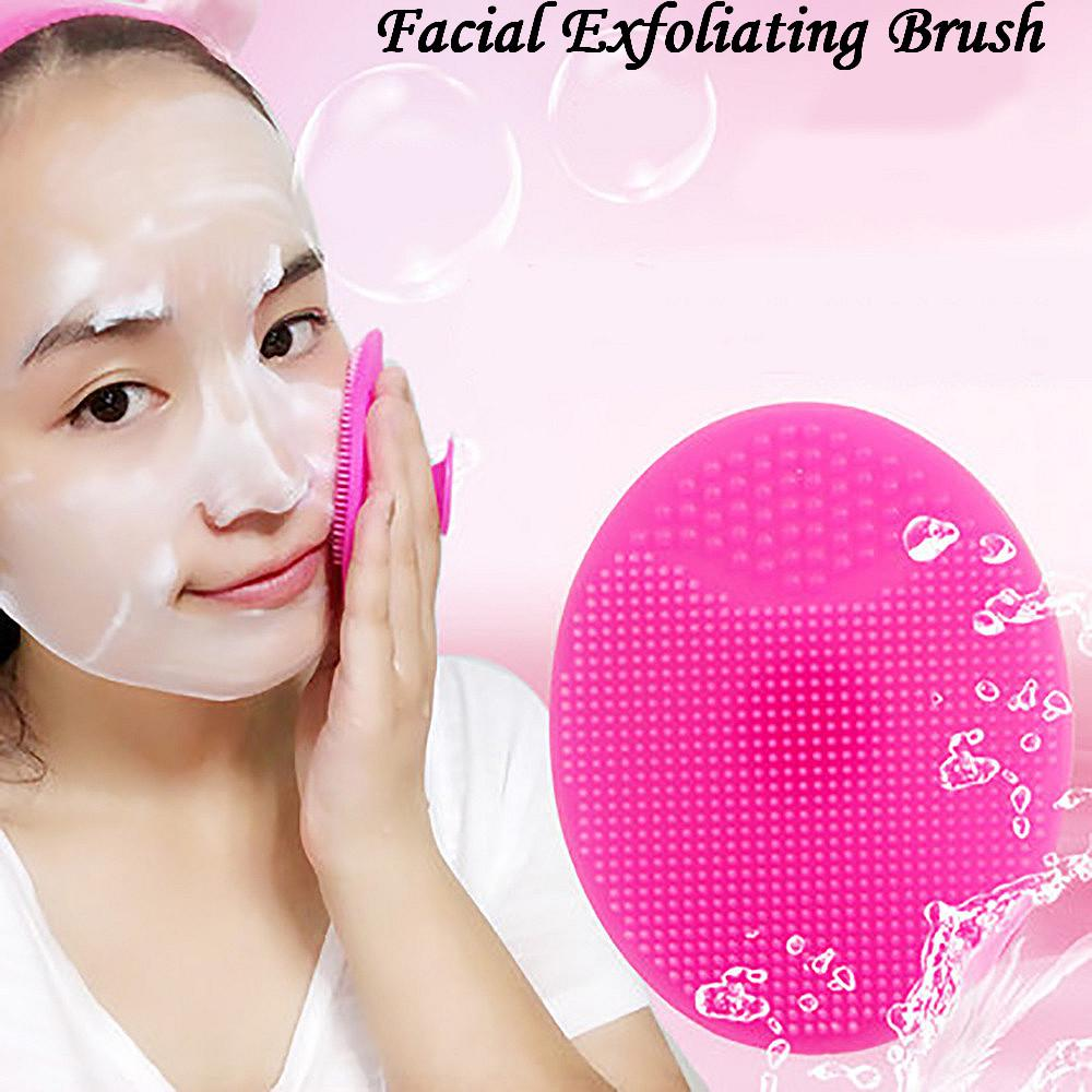 New Arrival Silicone Beauty Washing Pad Facial Exfoliating Blackhead Face Cleansing Brush Tool Soft Deep Cleaning Face Brushes(China)