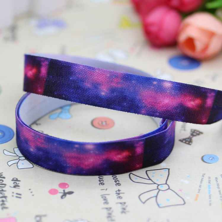 Star Galaxy 15 мм для маленьких девочек аксессуары для волос эластичная повязка на голову печатные ленты 5/8 дюйма раза по сравнению с врагом ободки 50 ярдов новый