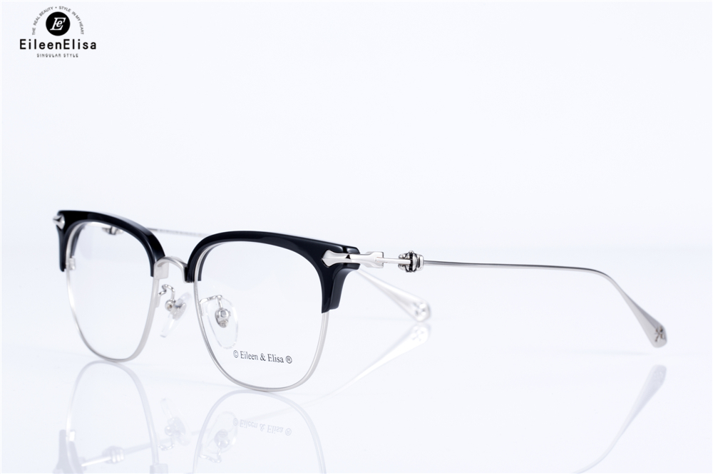 d182f6ef54e EE Hot Optical Myopia Glasses Clear Lens Eyewear Acetate Glasses Frame Men  Glasses Frame Branded Half Frame Glasses-in Eyewear Frames from Apparel ...