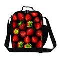 Personalizada de Impresión de Fresa bolsa de almuerzo para adultos chicas bolsas más frescas de almuerzo para bolsa de comida bolsa de almuerzo para las mujeres linda de la escuela niños