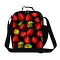 Personalized Strawberry Print lunch bag for adults girls cooler lunch bags for school Lunch box bag for women cute meal bag kids