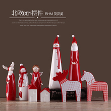Home desktop ceramic crafts decorations new year gift living room decoration christmas decoration