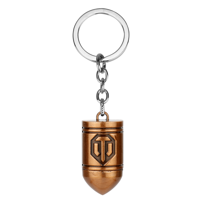 MQCHUN 2018 Hot Game Wot World of Tanks Bullet Keychain can Drop-shipping Metal Key Rings For Gift Chaveiro Key chain Jewelry image