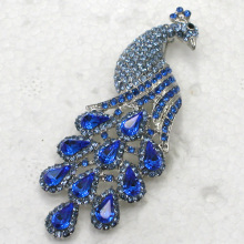 Wedding party jewelry brooch Blue Rhinestone Peacock Pin brooches C250 B