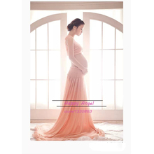 Maternity clothing for pregnant women Photography Props Orange Dress Pregnancy summer style Romantic set Princess Free shipping