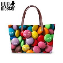HUE MASTER neoprene women tote bags candy exterior design women tote bag large capacity shopping lady handbag lady beach handbag trendy zippers and candy color design women s tote bag