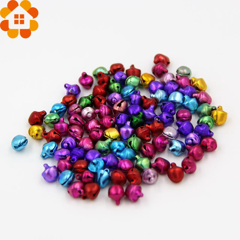 100Pcslot DIY Crafts Handmade Accessories for Home Decor Iron Loose Beads Small Jingle Bells for Christmas Decoration Pendants