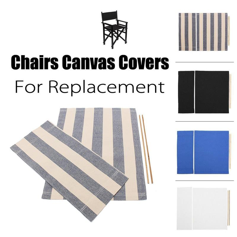 Casual Directors Chairs Cover Stool Protector Replacement Canvas Seat Covers Kit Blue/White/Black