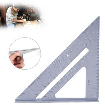 7 Inch Aluminum Alloy Measuring Ruler Speed Square Roofing Triangle Angle Protractor Trammel Measuring Tools For Carpenter 1pc 12 angle frame tri square ruler aluminium roofing rafter carpenter wood working measuring tools