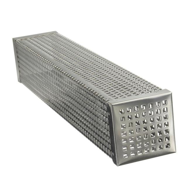 12in Pellet Smoker Tube Stainless Steel Cube Smoker Hot or Cold Smoking Generator BBQ Grill Smoking Mesh Tubes BBQ Accessoires 1
