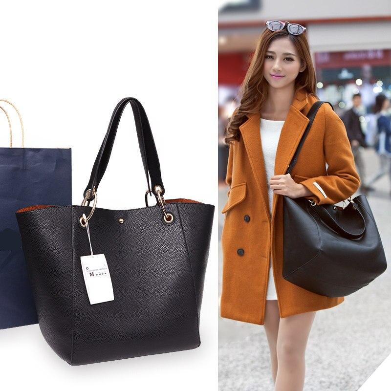 Sac à main de grande capacité sacs à bandoulière de haute qualité pour femmes mère et fils sac 2pic/set épaule rétro dames sacs à main