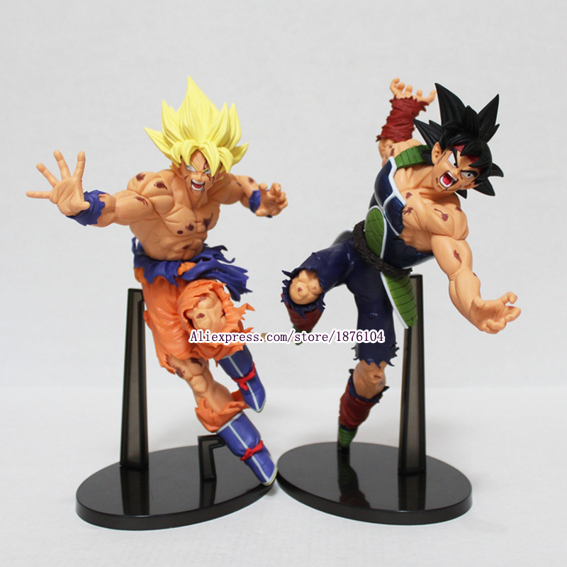 Anime Dragon Ball Z Action Figure Resurrection F Super Saiyan Gokou Burdock DragonBall PVC Figures Collectible Model Toys 22CM dragon ball dxf the super warriors vol 3 super saiyan rose gokou black and vegetto pvc figure collectible model toys kt4201