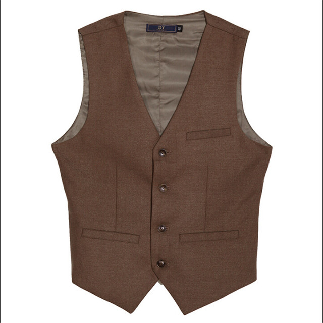 Men Autumn Vest Vintage Single Breasted British Style Slim Fit Brand Clothing Men Single Breasted Cotton Vests For Man A2924