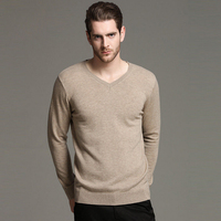 Sweater Men V Neck Winter Warm 100 Wool Men S Pullover Sweaters Casual Slim Fit Male