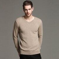 Sweater Men V Neck Winter Warm 100 Wool Men S Pullover Sweaters Casual Slim Fit Male