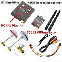FPV 5.8G 5.8GHz 600mW Wireless AV Audio Video 48CH RC Transmitter TX TS832 & Receiver RX RC832 Plus For Racing drone F450 QAV250