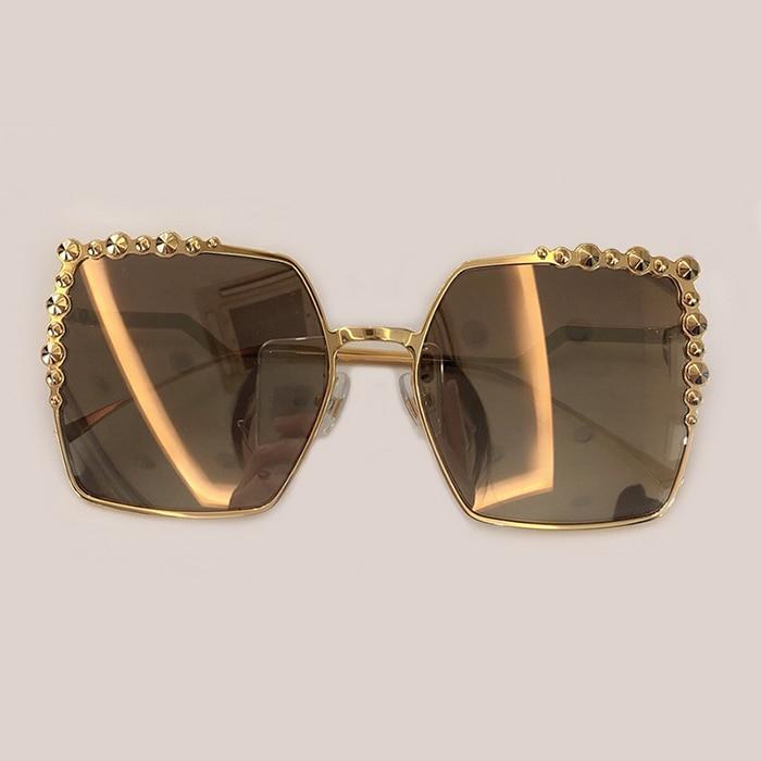 4 Oculos No Hohe Sol Sonnenbrille 1 2 Box 3 no 2019 Marke Rahmen Feminino 5 Quadrat Luxus no Legierung De Qualität Brillen Mode Frauen no Designer Mit no UqWHUn764