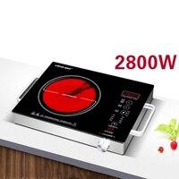 Дома Estufa Electrica плита Инфракрасный свет волна Индукционная Smart Touch индукционная варочная панель 2800 Вт горячий горшок индукционный нагрев