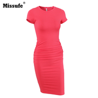 Missufe Fold Women S Pencil Dress Elegant Ukraine Female Tunic Bodycon Bandage Femme Tunic Bandage Bodycon