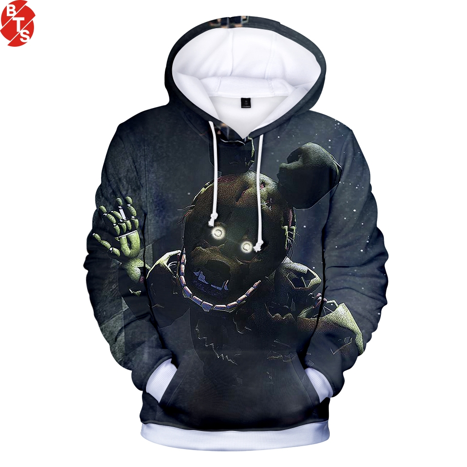Five Nights At Freddy 3D Printed Hoodies Women/Men Fashion Long Sleeve Hooded Sweatshirts 2018 Casual Hot Sale Hoodies