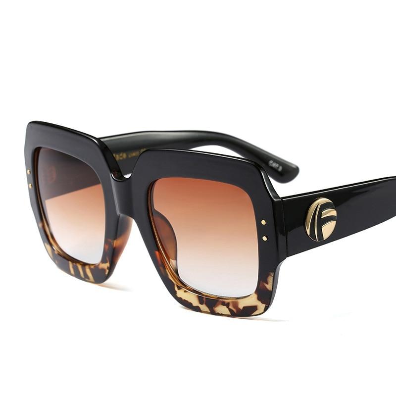 Kvinnor män trendiga stora handgjorda kristall solglasögon lyx - Kläder tillbehör - Foto 3