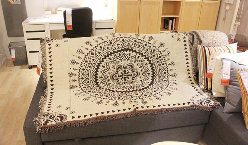Inde Mandela coton fil couverture jeter épaissir canapé couverture serviette couverture maison tapis lit couverture