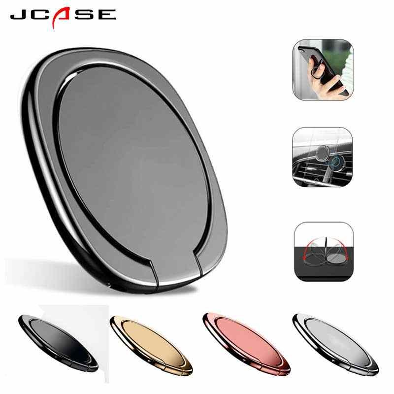Jcase soporte de anillo de dedo para teléfono General Soporte de 360 grados para Samsung Xiaomi iPhone X 7 6 55 5S plus Smartphone tablet simple bague