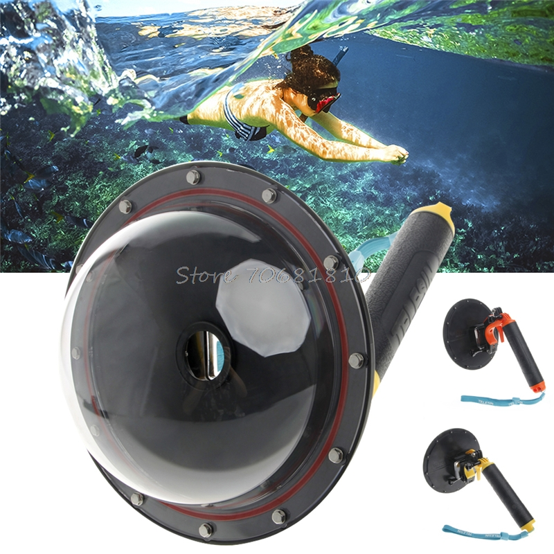 Dome Port Lens Cover Waterproof 30m Shutter Trigger For GoPro Hero 4 3 R179T Drop shipping