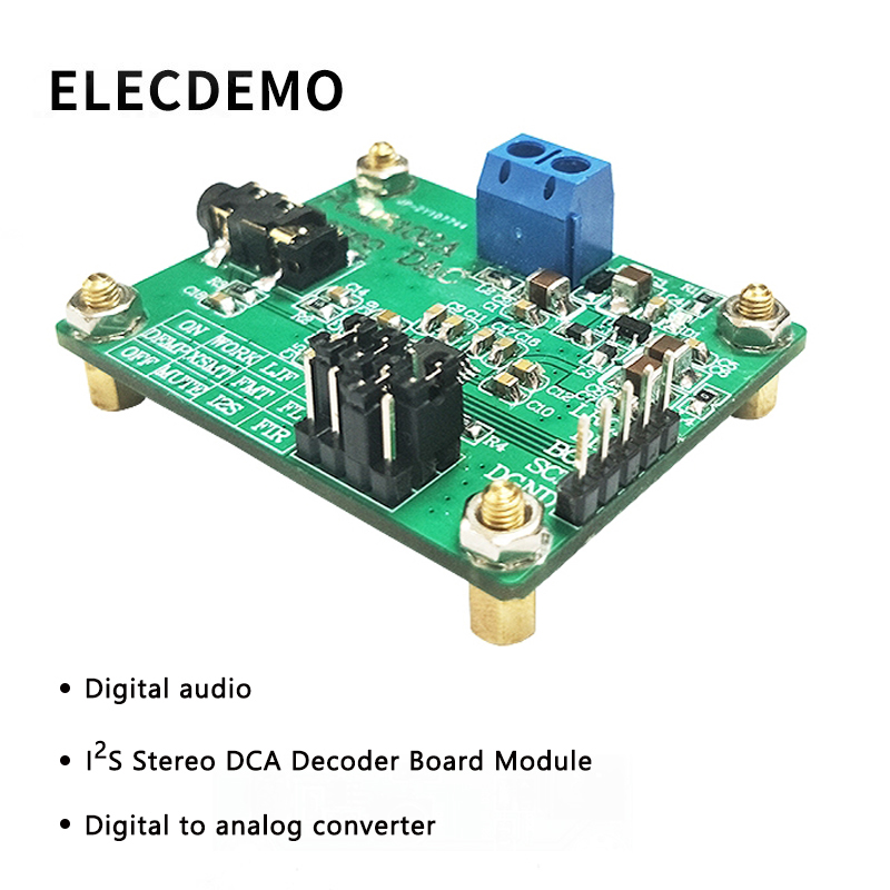 PCM5102A Module Digital Audio I2S IIS Stereo DCA Decoder Board Module Digital to Analog Converter Function demo Board-in Demo Board Accessories from Computer & Office