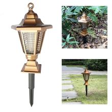 Solar Energy Mosquito Lamp Gold European Style Decoration Insect Killer Household Hanging Dual Use Street Light