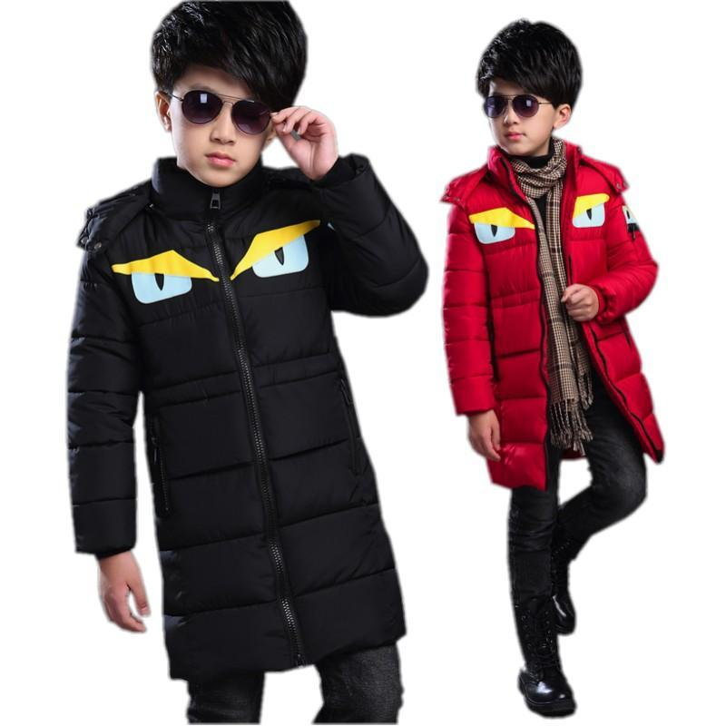 winter down coat male child thickening childrens clothing baby kids Lovely cartoon handsome down outwear jacket