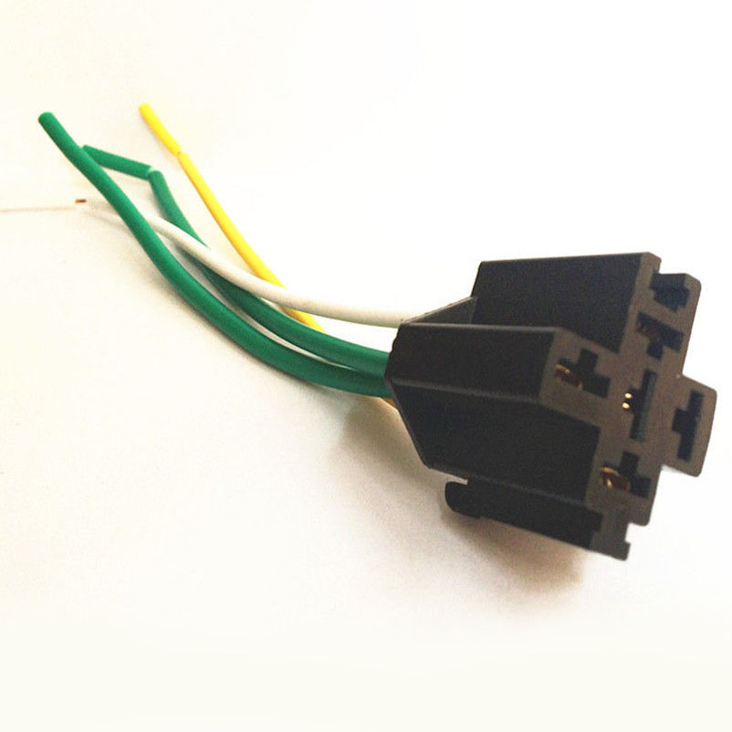 New 40A 12V 5 prong Car Relay With Wiring Harness Socket