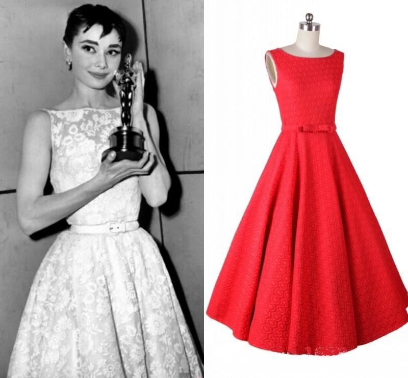 Plus Size Europe Lady Clothing Retro Hepburn Style 50S 60S Lace ...