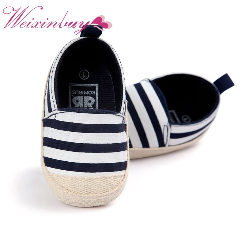 Newborn Baby Boy Girl Crib Pram Shoes Prewalker Soft Sole Slippers Trainers 0-18 Plaid Shallow Canvas Soft Anti-slip Sneaker