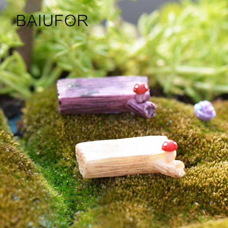 Super Mini Mushroom Stump Bench Resin Figurines for mini Garden Decoration Fairy Garden Miniatures, DIY Terrarium Material