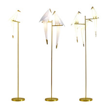 Fonkin Brayden Studio Leist Bird Floor Lamp Golden Lampshade Base With LED Bulbs Metal Lambader For Living Room Stand Reading(China)