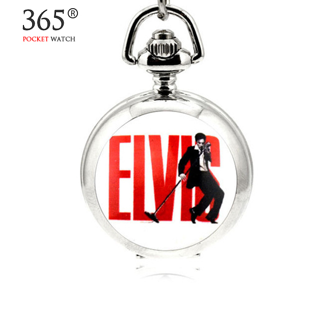 Fashion Elvis Presley For Women Ladies Girl Pocket Watch Necklace ladies girl fo