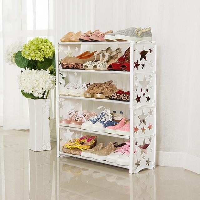 Simple Multi Layers Star Combination Shoes Shelf Brief Shoe Storage Shelf Modern  Shoe Shelf