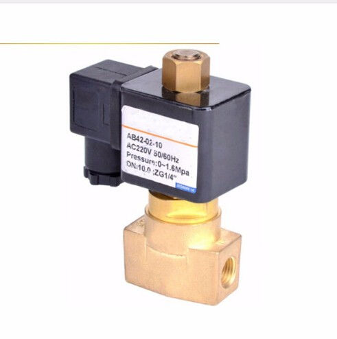 1/8 Normally open Air,Water,Oil brass Solenoid Valve 3 8 electric solenoid valve water air n c all brass valve body 2w040 10 dc12v ac110v